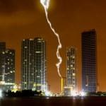 The skyline of Miami City at night — Stock Photo #29368265