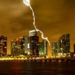 The skyline of Miami City at night — Stock Photo #29368347