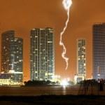 The skyline of Miami City at night — Stock Photo #29368385