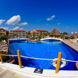 Stock Photo: Luxury all inclusive beach resort in Cancun