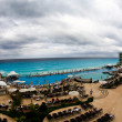 The beach front at a luxury beach resort in Cancun — Stok fotoğraf