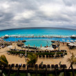 The beach front at a luxury beach resort in Cancun — Foto Stock