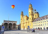 The scenery at the Residenz and Odeonsplatz in Munich — Stock Photo