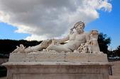 Paris - Statue from Tuileries garden near Louvre — Stock Photo