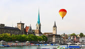 The major landmarks of Zurich cityscape — Foto de Stock