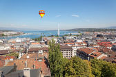 The city of Geneva in Switzerland, a aerial view — Stock Photo