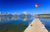 Der jackson lake im grand teton — Stockfoto