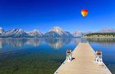 El lago jackson en grand teton — Foto de Stock