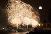 The July 4th firework over Hudson Rive — ストック写真