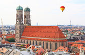 The aerial view of Munich city center — ストック写真