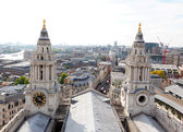 London city view from the top of St. Paul Cathedral — 图库照片