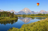 Die oxbow bend wahlbeteiligung in grand teton — Stockfoto