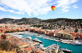 Aerial view of the city of Nice France — 图库照片
