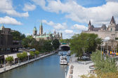 Parliament of Canada and Rideau Canal — Stock Photo