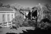 Infrared Image, the Great Falls in Paterson, NJ — Stock Photo