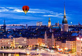 Night scene of the Stockholm City — Stock Photo
