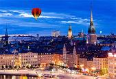 Nachtaufnahme der Stadt stockholm — Stockfoto