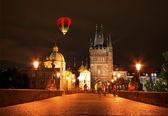 The night view of the beautiful Prague City — Stock Photo