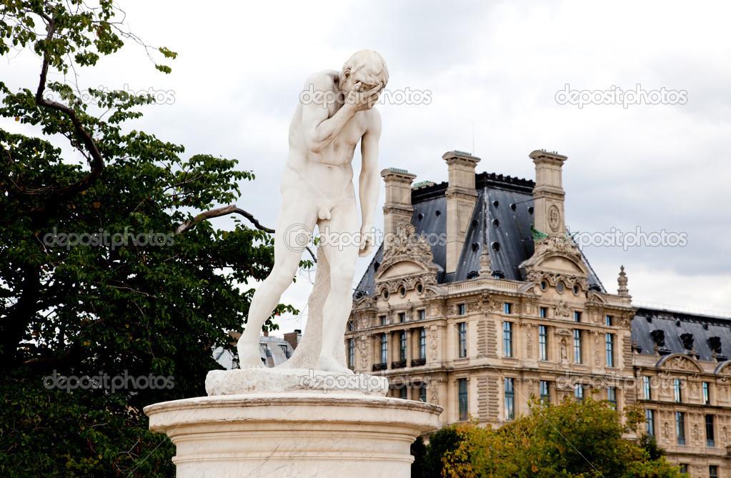 Paris estatua del jard n de las tuller as cerca del - Estatuas de jardin ...