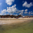 The beach front at a luxury beach resort in Cancun — Stockfoto