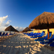 A luxury all inclusive beach resort at morning — Stok fotoğraf