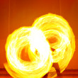 A fire show performed on stage — Stock Photo