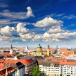 The aerial view of Munich city cente — Stock Photo