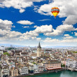 The aerial view of Zurich cityscape — Stock Photo
