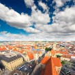The aerial view of Munich city cente — Foto de Stock