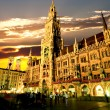 The Munich town hall — Stock Photo