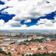 Aerial view of Prague City — Stock Photo