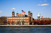 The main immigration building on Ellis Island — Stock Photo