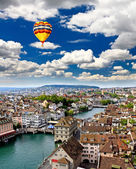 The aerial view of Zurich cityscape, Switzerland — Stock Photo