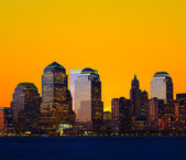 Lower Manhattan Skylines — Stock Photo