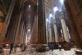 The interior of Duomo Milan — Stock Photo