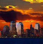 Lower Manhattan Skylines — Stock Photo