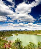 Paesaggio paesaggio vicino città di lijiang — Foto Stock