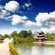A scenery park near Lijiang China, named as a World Cultural Heritages by UNESCO in 1997. — 图库照片