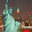 The Statue of Liberty and New York City — Stock Photo #29380059