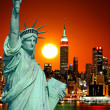 The Statue of Liberty and New York City — Stock Photo #29380115