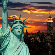 The Statue of Liberty and New York City — Stock Photo #29380127