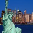 The Statue of Liberty and New York City — Stock Photo #29380277