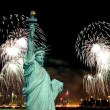 The Statue of Liberty and 4th of July fireworks — Stock Photo #29380429