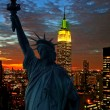 The Statue of Liberty and Manhattan Skyline — Stock Photo #29380567