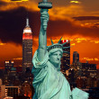 The Statue of Liberty and New York City — Stock Photo #29380813