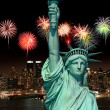 The Statue of Liberty and New York City — Stock Photo #29381029