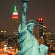 The Statue of Liberty and New York City — Foto Stock