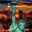 The Statue of Liberty and New York City — Stock Photo #29381361