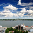 The aerial view of Saint Lawrence River Quebec — Stock Photo