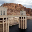 Stock Photo: Hoover Dam in Arizona